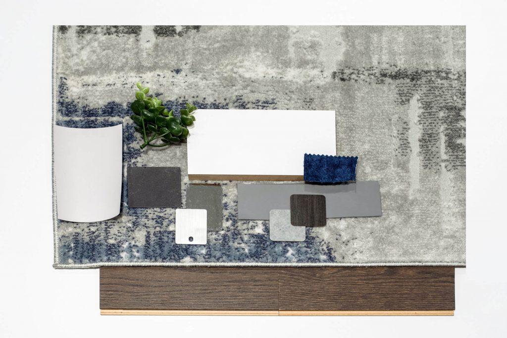 modern blue moodboard