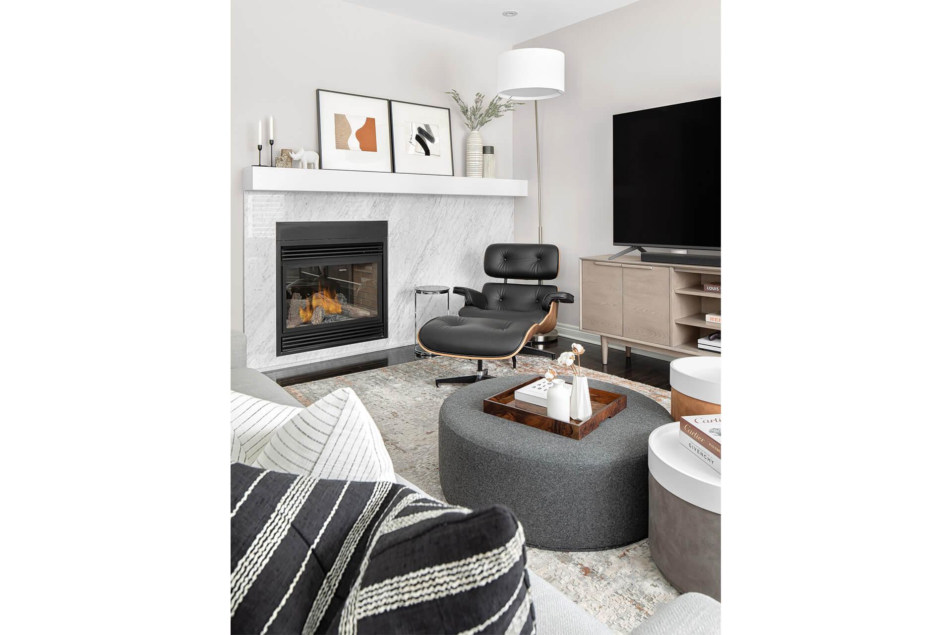 Bright Airy Contemporary Living Room