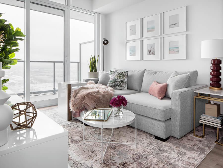 Contemporary Bright Living Room